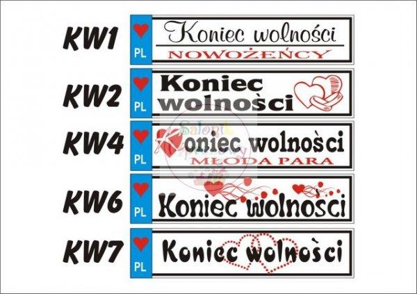 Imienne tablice rejestracyjne z PCV