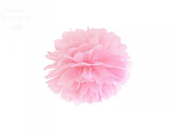 Pompon bibułowy jasno różowy 25cm 1szt
