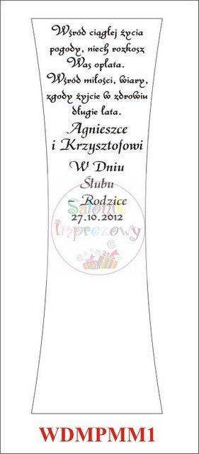 Wazon Alf grawerowany z różą prezent dla Młodej Pary, Nowożeńców