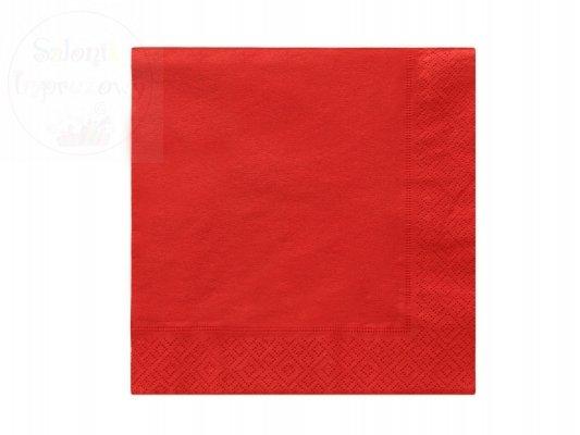 Serwetki 3 wartsw. 33x33cm czerwone 20szt
