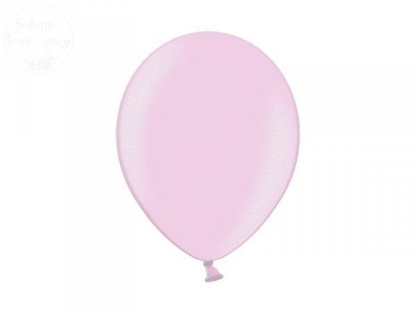 Balony 12 cali metalic jasnoróżowe 50 szt