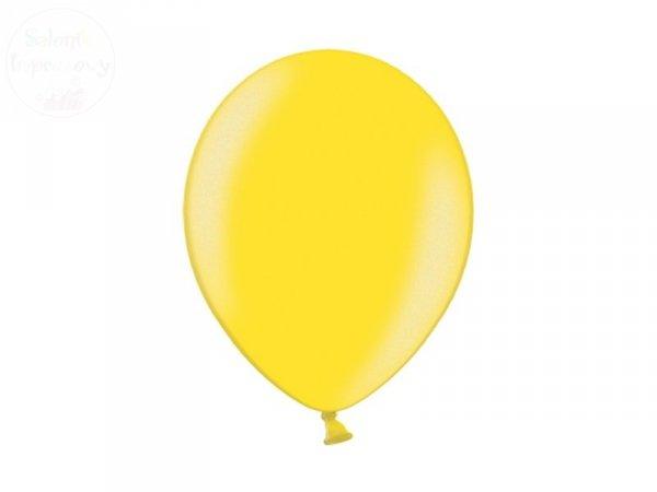Balony 12 cali metalic żółte
