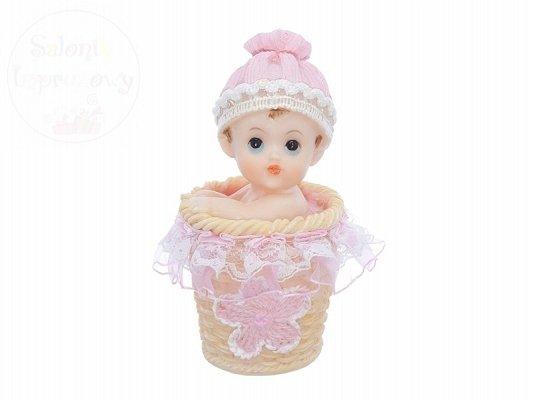 Figurka Dziewczynka w koszyczku 6cm