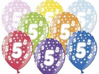 """Balony 14 cali mix kolor metalik """"5"""""""