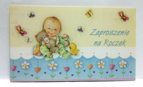 Zaproszenie na Roczek, na urodziny 1szt