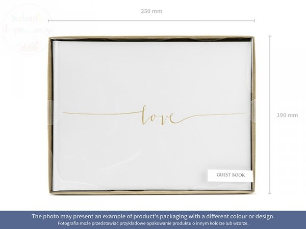 Księga Gości LOVE -  22 kartki wymiar 24x18,47