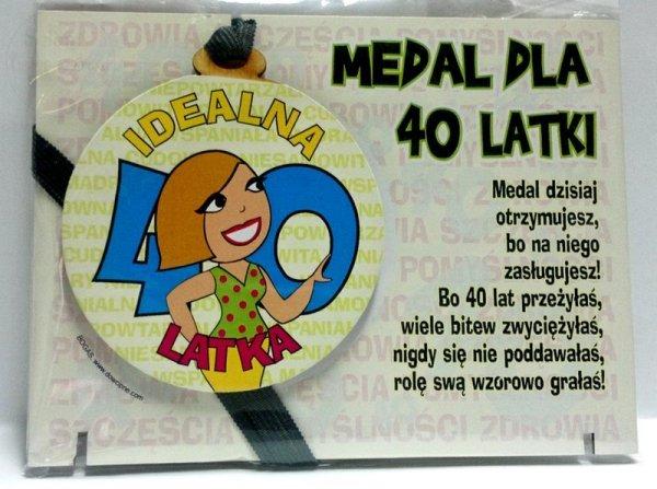 Medal podstawka dla 40-latki