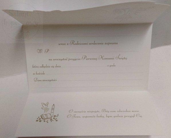 Zaproszenie ELEGANCE na I Komunię Świętą