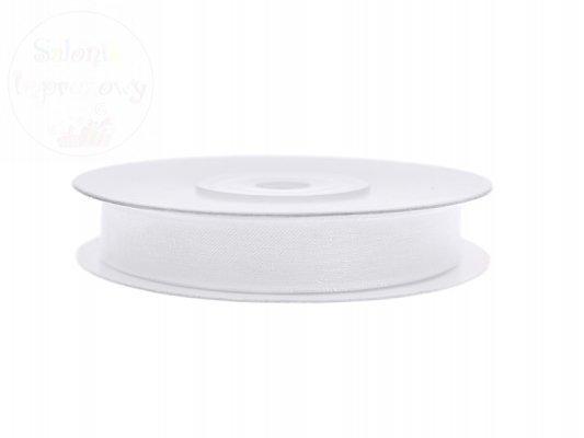 Tasiemka szyfonowa, biała 6mm/25m 1szt