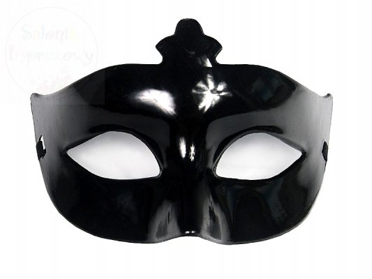 Maska na karnawał czarna.