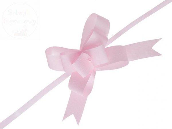 Wstążka ściagana 3 cm j.róż