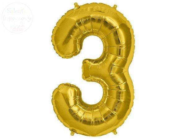 """Balon Foliowy 34 Cyfra """" 3"""""""