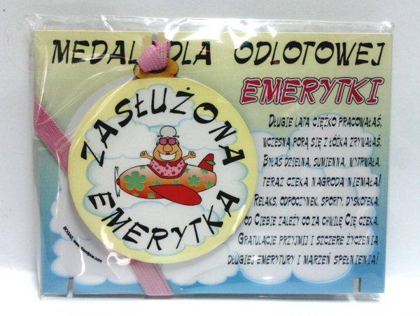 Medal podstawka dla  Emerytki