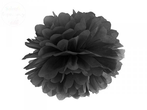 Pompon bibułowy w kolorze czarnym 35 cm