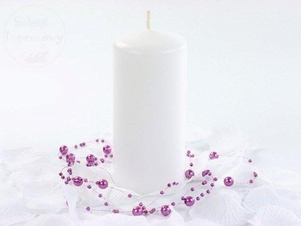 Świeca  klubowa biała matowa - 1 szt