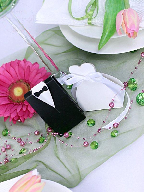 """Pudełeczka dla gości """"sukienka"""" 10 szt PUDP1/K"""