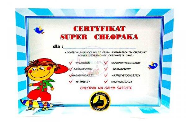 "Certyfikat Super Chłopak  "" Deskorolka"""