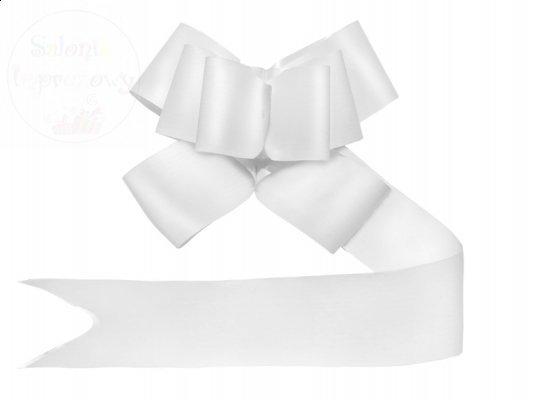 Wstążka ściągana 5cm malowana biała