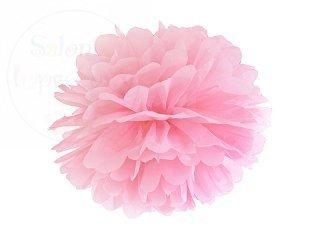Pompon bibułowy jasno różowy 35cm 1szt