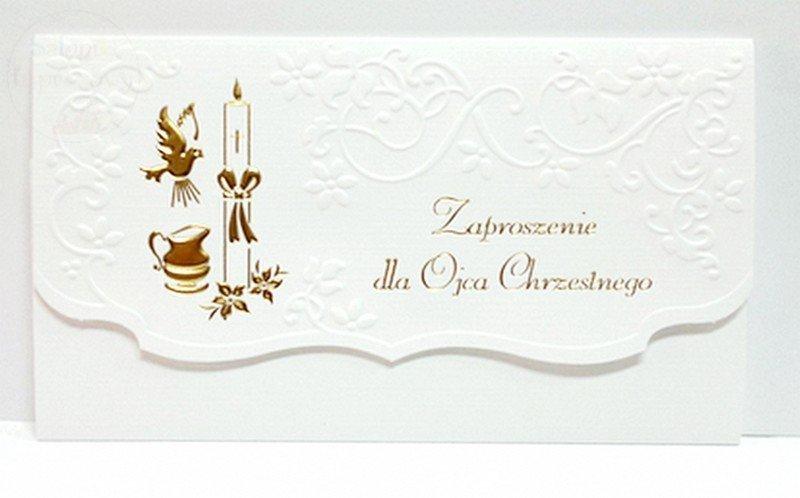 Kieliszki ślubne Zaproszenie Na Chrzest święty Dla Ojca Chrzestnego