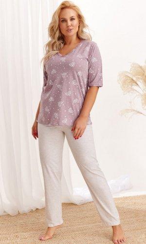 Piżama Taro 2465 20/21 kr/r Lidia 3-5XL Z'20