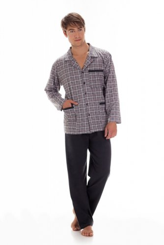 Piżama Cornette 114 dł/r 3XL-5XL Rozpinana