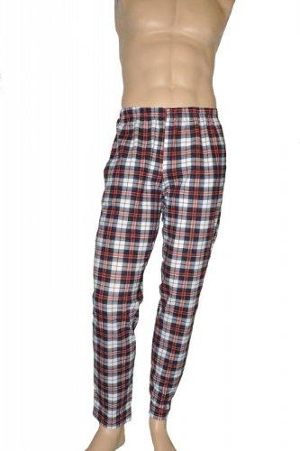 Spodnie piżamowe De Lafense 362 Krata męskie