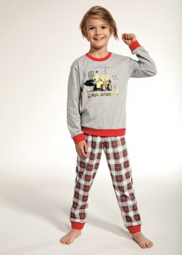 Piżama Cornette Kids Boy 593/88 Bulldozer dł/r 86-128