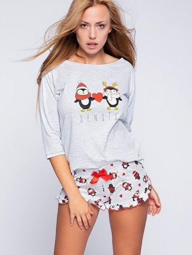 Piżama Sensis Winter Pingu 3/4 S-XL