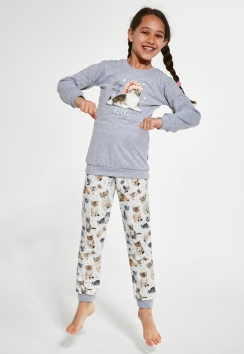 Piżama Cornette Kids Girl 377/135 Kitty dł/r 86-128