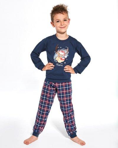 Piżama Cornette Kids Boy 593/113 Reindeer dł/r 86-128