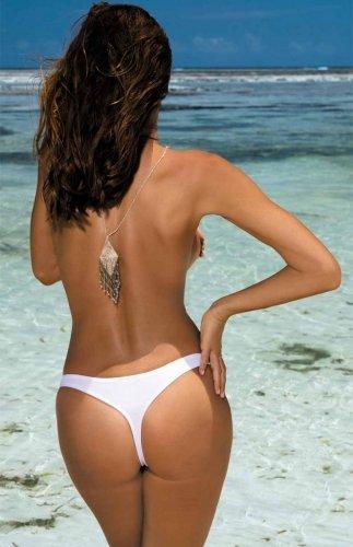 Stringi kąpielowe białe Irina M-02 Bianco (2)