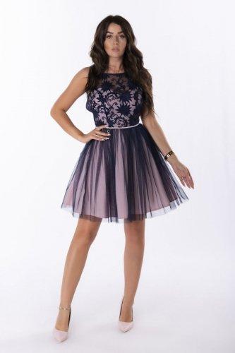 rozkloszowana sukienka mini z tiulem