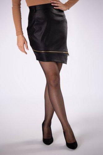 asymetryczna spódnica mini z ekoskóry