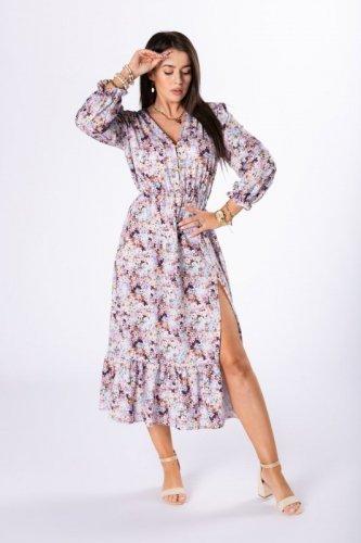 sukienka midi z printem