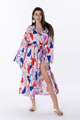 sukienka kimono z wiązaniem