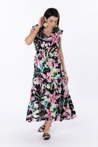 sukienka maxi z printem
