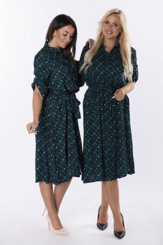 sukienka szmizjerka z printem
