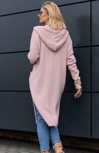 Sweter rozpinany Merribel Amaral różowy