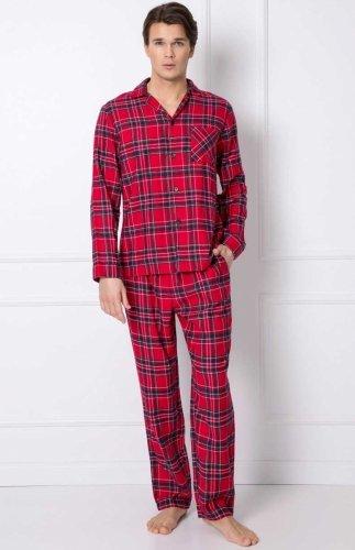 Flanelowa piżama męska Aruelle Daren Long