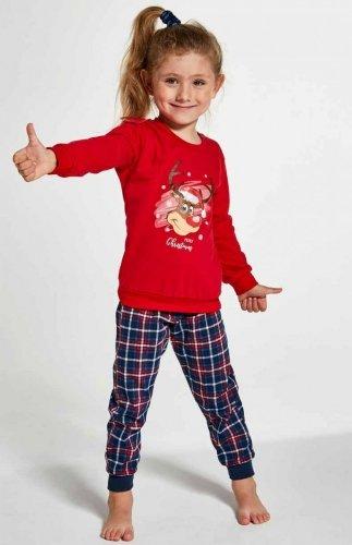Piżama Cornette Kids Girl 594/130 Reindeer dł/r 86-128