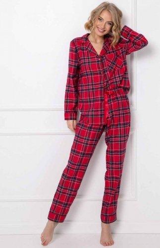 Piżama flanelowa damska rozpinana Aruelle Darla Long