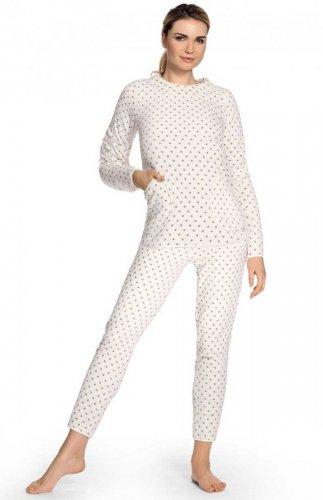 Ciepła piżama damska De Lafense 376 Melanie