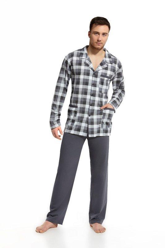 Piżama Cornette 114 dł/r M-2XL Rozpinana