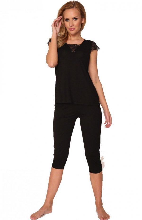 piżama damska de lafense wiskozafanny 341 czarna