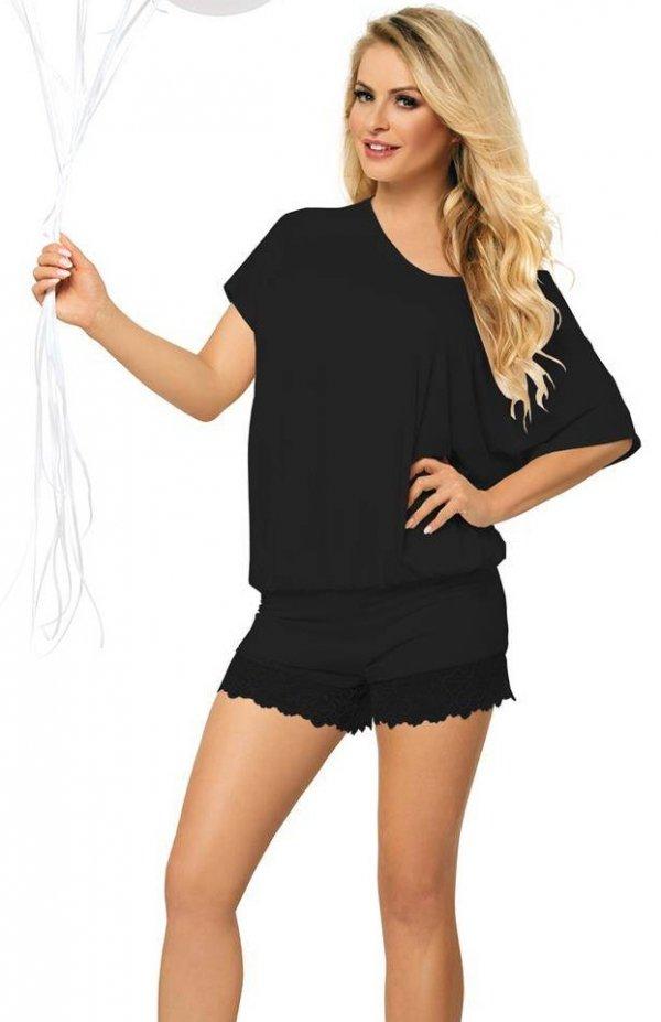 piżama damska z wiskozydkaren tamara czarna