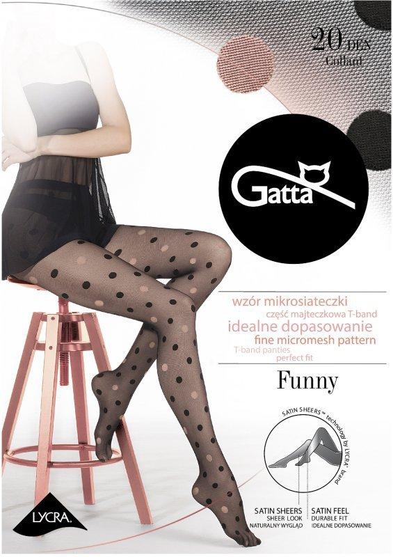 be7a41fd0e0175 Rajstopy Gatta Funny 07A 20 den - lycra - Rajstopy - Piękne nogi