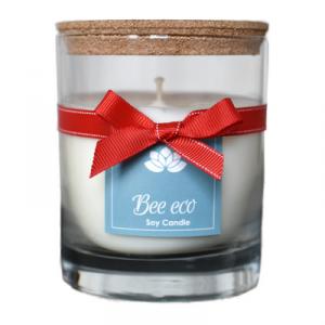 Świeca sojowa bez zapachu, Bee Eco 200ml