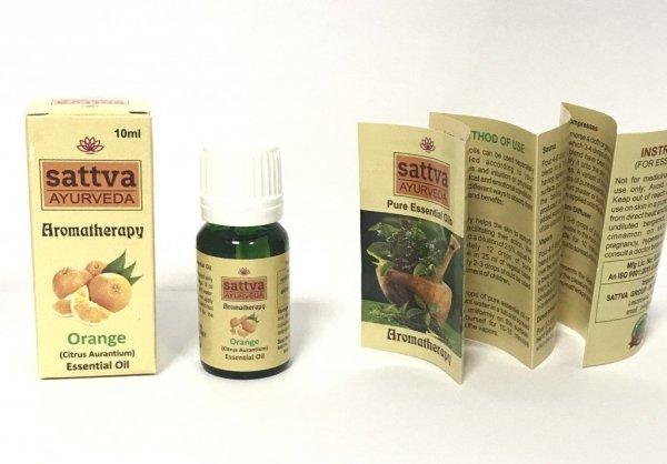 Pomarańczowy olejek eteryczny Sattva 10ml