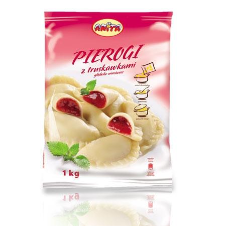 [ANITA] Pierogi z truskawkami 500g/12szt